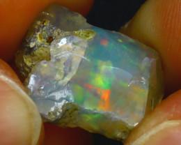 9.60Ct Multi Color Play Ethiopian Welo Opal Rough H2207/R2