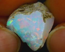 10.90Ct Multi Color Play Ethiopian Welo Opal Rough H2208/R2