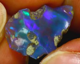 6.70Ct Multi Color Play Ethiopian Welo Opal Rough H2211/R2