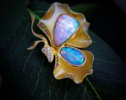 Sold Out. Just For Appreciation. Boulder Opal Pair Pendants/Brooch
