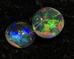 (2Stones) 1.025ct Mexican Crystal Opal (OM)