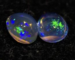 (2 Stones) 0.965ct Mexican Crystal Opal (OM)