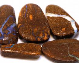 143cts Boulder Opal Pre Shaped Rub Parcel ADO-8992 - adopals