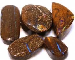 118cts Boulder Opal Pre Shaped Rub Parcel ADO-8995 - adopals