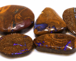 108cts Boulder Opal Pre Shaped Rub Parcel ADO-9013 - adopals