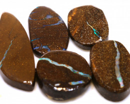96cts Boulder Opal Pre Shaped Rub Parcel ADO-9016 - adopals