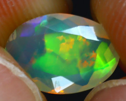 Welo Opal 1.06Ct Natural Ethiopian Play of Color Opal J2302/A44