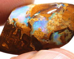 12.80cts Boulder Pipe Opal Pre Shaped Rub ADO-9039 - adopals