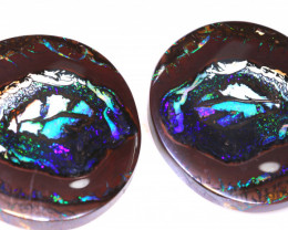 80.90 CTS  KOROIT OPAL PAIR INV-2238 INVESTMENTOPALS