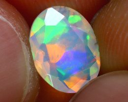 Welo Opal 1.11Ct Natural Ethiopian Play of Color Opal H2401/A44
