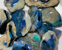 356Cts Big & Thick Rough Seam Opals with All the Colours