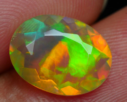 1.835 CRT BEAUTIFUL FACETED MULTI PLAY COLOR  WELO*