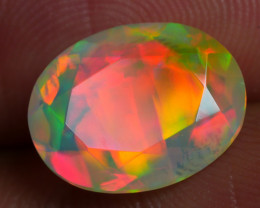 2.550 CRT BEAUTIFUL HHONEYCOMB  FACETED MULTI PLAY COLOR  WELO*