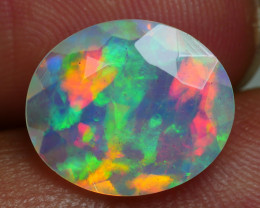 2.935 CRT BEAUTIFUL FACETED NICE MULTI PLAY COLOR  WELO*