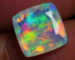 2.455 CRT BEAUTIFUL SQUARE BEST FACETED MULTI PLAY COLOR  WELO*
