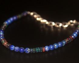 17.40 Crt Natural Welo Smoked Opal & Lapis Bracelet 403