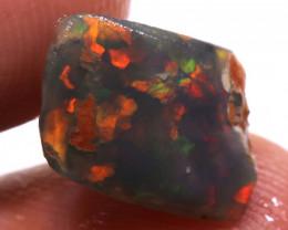 2.55cts Lightning Ridge Opal Rub floral harlequin DT-A5025 - dreamtimeopals
