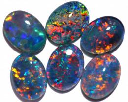 6 Cts Australian Triplet Opals Parcels 8x6mm FO 1435