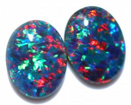 2.5 Cts Australian Triplet Opals Pairs 9x7mm FO 1459