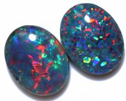 2.5 Cts Australian Triplet Opals Pairs 9x7mm FO 1465