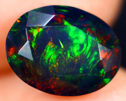 2.57cts Natural Ethiopian Faceted Smoked Welo Opal / BF7565
