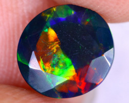1.33cts Natural Ethiopian Welo Faceted Smoked Opal / NY2614
