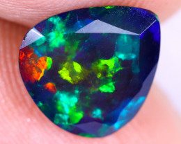 1.61cts Natural Ethiopian Welo Faceted Smoked Opal / NY2617
