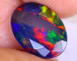 1.28cts Natural Ethiopian Welo Faceted Smoked Opal / NY2618