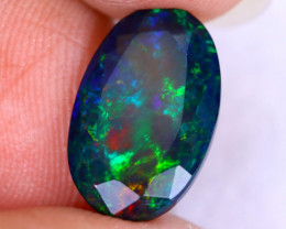 3.09cts Natural Ethiopian Welo Faceted Smoked Opal / NY2630