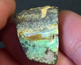 30.70 cts Australian Qld CIRRUS boulder polished opal 3/5
