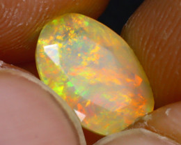 Welo Opal 1.46Ct Natural Ethiopian Play of Color Opal J2505/A44