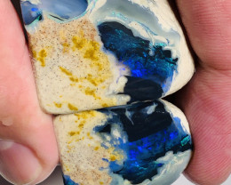 Butterfly Nobby- A big rare unique split opal, see below#1711