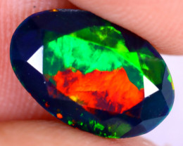 1.68cts Natural Ethiopian Welo Faceted Smoked Opal / NY2661