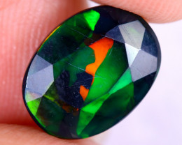 1.98cts Natural Ethiopian Welo Faceted Smoked Opal / NY2670