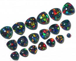 7 Cts Tri Australian Opal Triplet Mosaic Parcel    FO 1489