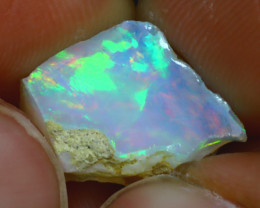 5.55Ct Multi Color Play Ethiopian Welo Opal Rough H2607/R2