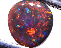 0.75cts   Red Black Opal Stone AOH-515  AUSTRALIANOPALHUNTER