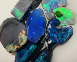 Stunning Black Opals- Bright & Beautiful Seam Material#1724