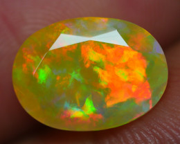 2.025 CRT BEAUTIFUL DARK BASE FACETED MULTI PLAY COLOR  WELO*