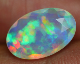 2.585 CRT BEAUTIFUL FACETED MULTI PLAY COLOR  WELO*