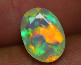 1.470 CRT BEAUTIFUL FACETED MULTI PLAY COLOR  WELO*