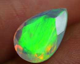 1.755 CRT BEAUTIFUL BROAD FLASH FACETED MULTI PLAY COLOR  WELO*