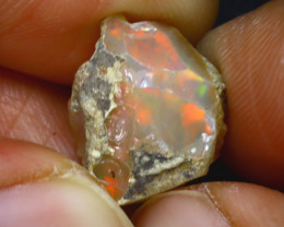 9.33Ct Multi Color Play Ethiopian Welo Opal Rough H2812/R2