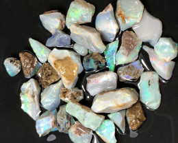 Mintabie rough parcel from South Australia 110cts beautiful colours