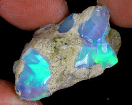 19cts Natural Ethiopian Welo Rough Opal / WR8087