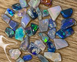 56.70 ct Opal Rough Lot Black Opals Lightning Ridge BORD100421