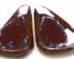 55.70cts Yowah Opal Center Nut Rubs DT-A5036 - dreamtimeopals