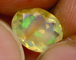 Welo Opal 1.12Ct Natural Ethiopian Play of Color Opal J2903/A44