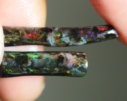 7.990CRT PAIR FOSSIL WOOD INDONESIA OPAL