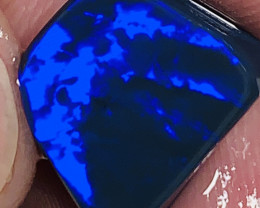 N1- Royal Blue on Black Jewellery Grade Clean Bright Opal Rub#1792